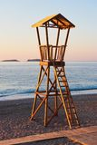 Beach wood cabin in Spain for coast guard Royalty Free Stock Photography