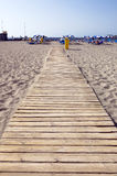 Beach wood walkway Royalty Free Stock Photos