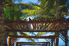 Beach Wooden Canopy Royalty Free Stock Photography