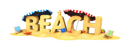 BEACH - word of sand Stock Photography