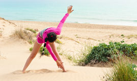 Beach workout Royalty Free Stock Photo