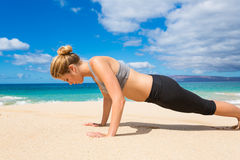 Beach Workout Stock Photography