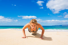 Beach Workout Royalty Free Stock Photography