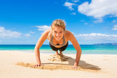 Beach Workout Stock Image