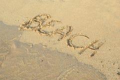 Beach Writing Royalty Free Stock Photography