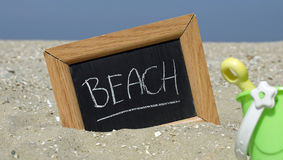 Beach written Royalty Free Stock Image