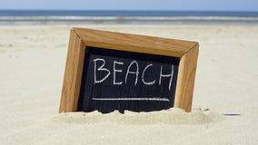 Beach written Stock Photography