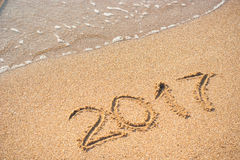2017 on the beach  2 Stock Photos