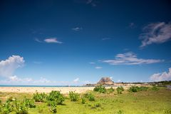 Yala National Park in Sri Lanka. Beach on Yala National Park in Sri Lanka. Beautiful landscape royalty free stock image
