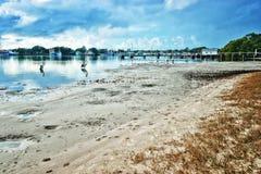 Beach at yamba Royalty Free Stock Photo
