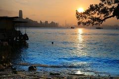 Beach in Yau Tong area in Kowloon, Hong Kong Royalty Free Stock Photos