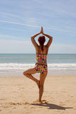 Beach yoga 11 Royalty Free Stock Photo