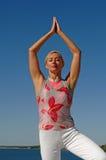 Beach yoga Royalty Free Stock Photo