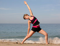 Beach yoga Royalty Free Stock Images
