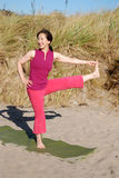 Beach Yoga Stock Image