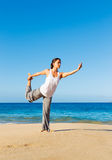 Beach Yoga Royalty Free Stock Photo