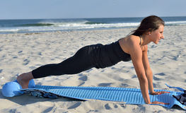 Beach Yoga Stock Image