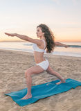 Beach Yoga Woman Royalty Free Stock Image