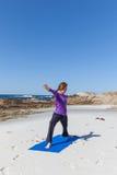 Beach Yoga Stock Photos