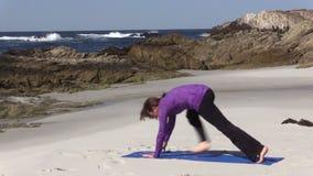 Beach Yoga stock footage