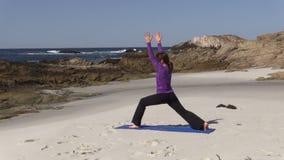 Beach Yoga stock video footage