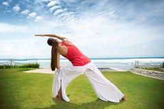Beach yoga Royalty Free Stock Photos