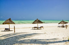 Beach on Zanzibar Royalty Free Stock Photography
