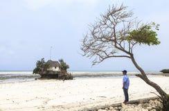 THE BEACH IN ZANZIBAR Royalty Free Stock Image