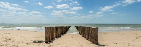 Beach, Zeeland Royalty Free Stock Images