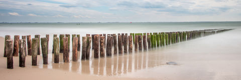 Beach, Zeeland, longexposure royalty free stock photography