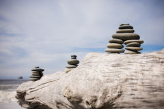 Beach Zen Stone Pile Royalty Free Stock Photo