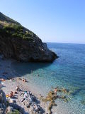 Beach of Zingaro Natural Reserve stock photo