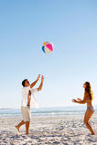 beachball无忧无虑的乐趣 免版税库存图片