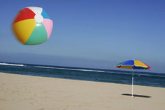 Beachball in the Air royalty free stock photography