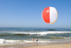 Beachball at beach Royalty Free Stock Photography