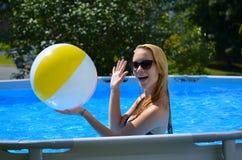 Beachball del juego Fotos de archivo libres de regalías