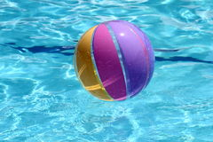 Beachball and swimmingpool Royalty Free Stock Images