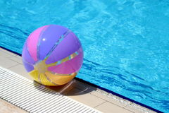 Beachball and swimmingpool. Summer vacation Stock Photography