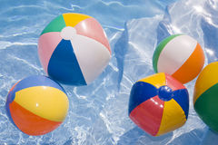 Beachballs in Pool Royalty Free Stock Photography