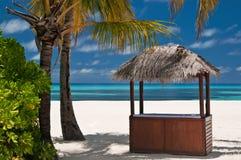 Beachbar on a tropical island Royalty Free Stock Photography