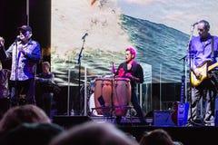 Beachboys konsert på slagskeppet Iowa i San Pedro, CA arkivfoton