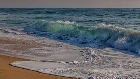Beachbreak在兰德斯-法国 免版税库存照片