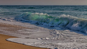 Beachbreak i Landesna - Frankrike Royaltyfri Foto