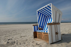 Beachchair. On the island sylt, germany Stock Photography