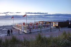 Beachclub by night Stock Photo