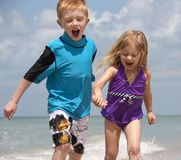 Beachday funday Fotografie Stock