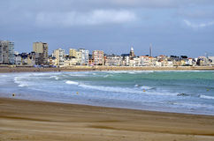 Beache of Les Sables d'Olonne in France Royalty Free Stock Image