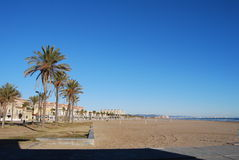 The beache in valencia Stock Image
