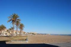 The beache in valencia Stock Image