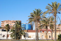 The beache in valencia Stock Images
